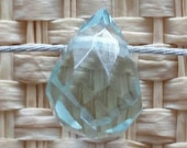 Top Quality Natural Faceted Aquamarine Teardrop Gemstomes 9x7mm for your art or jewelry projects - 3 beads (I1012)