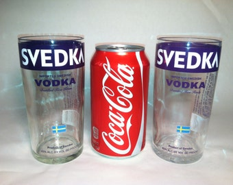Svedka Vodka Recycled Bottle Glasses - Set of 2