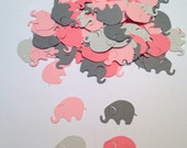 Elephant Baby Shower,  Pink Gray Elephant, Elephant Confetti, Elephant Cut Out, Elephant Die Cut, Elephant Theme, Girl Baby Shower