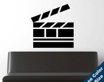 Film Clapperboard Wall Decal - Vinyl Sticker