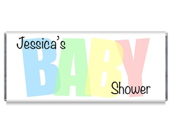 BABY Shower Personalized Candy Bar Wrappers Baby Shower Chocolate Favors