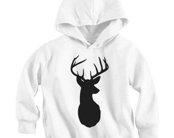 Deer Head - Long sleeve Hoodie Shirt (Baby / Infant / Toddler / Children's)