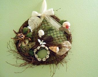 Tri-coastal Shell Wreath