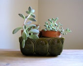 Vintage Green Upco Planter Pot