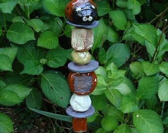 Ladybug Garden Totem READY TO SHIP