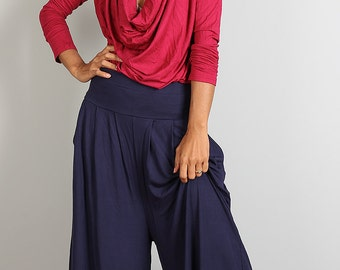 Wide Leg Pants  -  Long Comfy Pants : Urban Chic Collection no.22