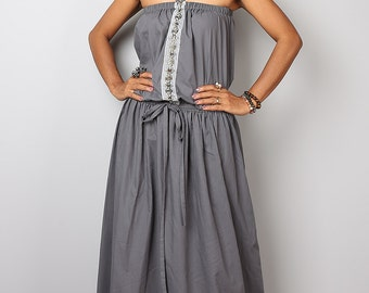 Grey Maxi Dress / Romantic Summer Dress  : Cheer me Up collection