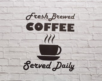 Vinyl Wall Decal Coffee Sign