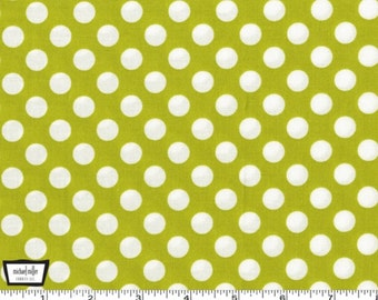 Ta Dot - Celery Green Cotton Print Fabric from Michael Miller