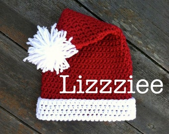 Santa Claus Crochet Hat PATTERN - Christmas - make super cute and easy hats - baby toddler child teen adult - Instant Digital Download