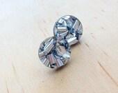 Mini Glitter Studs - Silver Lush