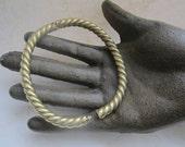 Vintage Brass Hinged Rope Design Bracelets 2Pcs.