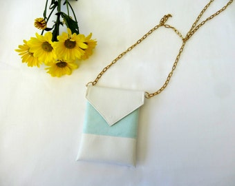 SALE: Small Envelope Cross-body Purse with Chain Strap