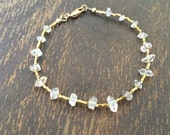 Herkimer Diamond Bracelet - Herkimer Diamond Gemstone Jewelry - Unique - Beaded Jewelry - Fashion - Luxe