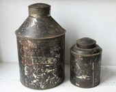 Set of Two Vintage Tin Jugs, Cans
