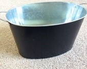 Galvanized Metal Ice Bucket Painted with Chalkboard Paint - great for weddings, graduations, etc.