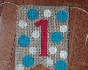 Add on Burlap Flag for Rag Tie Banners