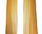 CLEARANCE Window Curtains- Pair of Drapery Panels- Premier Prints Corn Yellow Chevron Curtains- 50W x 96L inch Designer Draperies- Shade