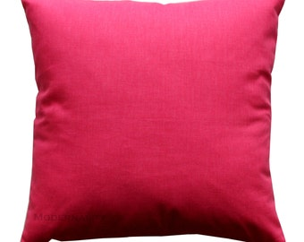 Toss Pillows, Solid Candy Pink Pillow Cover, Plain Pillow, Zippered Pillow, Hot Pink Pillow Case, Cushion Cover, Girls Room, Dorm Room Decor