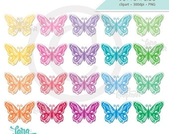 Butterflies Digital Clipart, Spring Clipart, Insect Clipart, Butterfly Clip Art