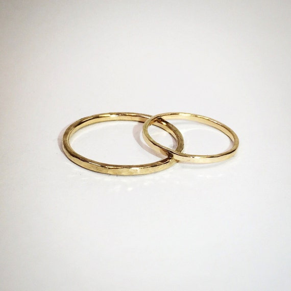 Golden Thread Stacking Ring