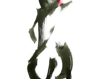 "Lost in motion 5 original figure gesture watercolor 15.5"" x 21.5""  Chance Lee"