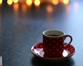 CUSTOM LISTING Espresso cup art print fine art photography
