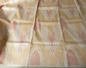 Medium weight fabric in peach light pink moire style design 1.5YDS+