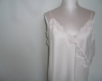 Miss Elaine Chemise Gold Label Vintage Nightgown Pink Chemise Size Large