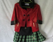 On Sale - Child's Highlander, Scottish, Steampunk Fully Lined Jacket & Kilt With Front Sporran: Size 3  - 4 years old, Ready To Ship Now