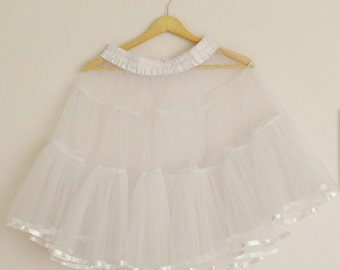 White Petticoat Underskirt Medium Volume