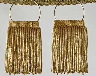 Luxurious Antique Fringe Earrings