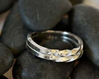 """sterling silver ring.   Size 5.5  """"Double Twisted"""""""