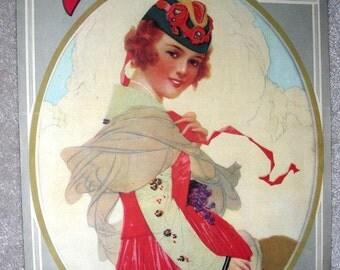 PRETTY GIRL Vintage Sheet Music My Gal Red Hair Gustav Michelson