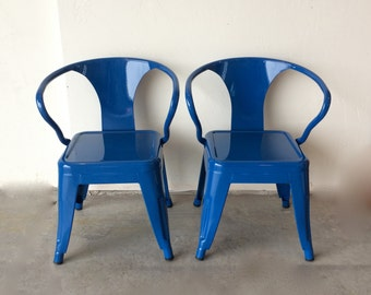 Child Size Custom Painted Tolix Style Armchair in the Color of your Choice