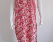 Silk Batik Sarong - Soft Pink Large Orchids