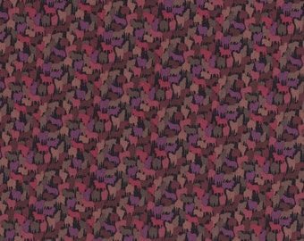 Fat eighth Kussman A Liberty of London tana lawn, dark red and purple horse liberty print
