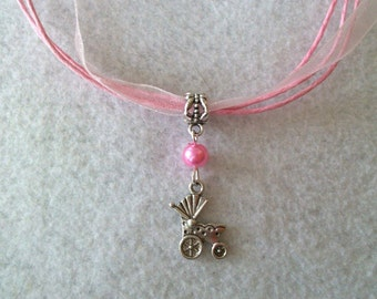10 Baby Carriage Necklaces Party Favors