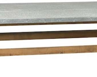 Urban X Base Distressed Zinc Coffee Table
