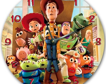 TOY STORY Wall clock, Nursery art, Personalized, custom room decor