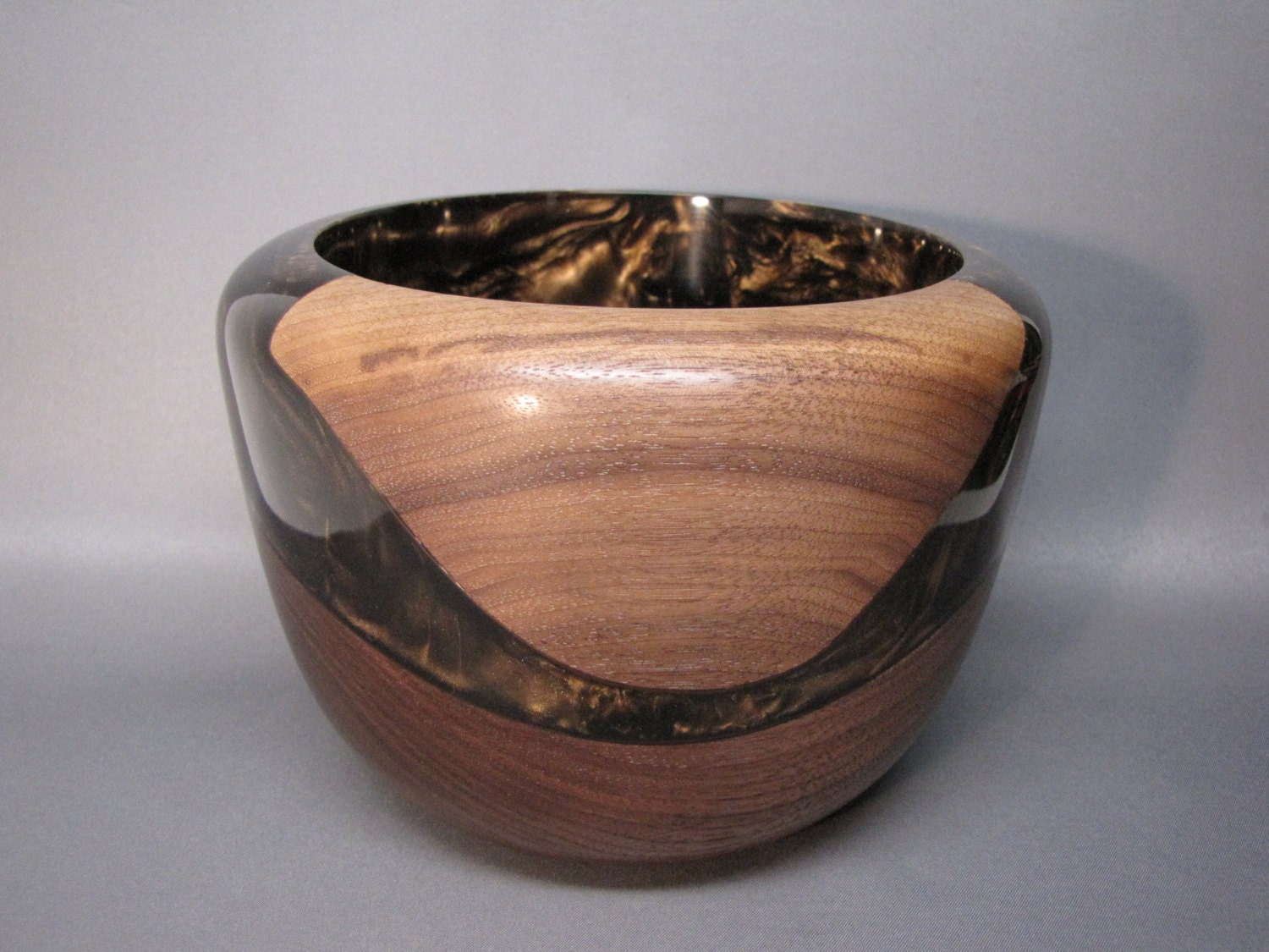 handmade wood bowls handmade wooden bowl made of black walnut an a rich brown 7759