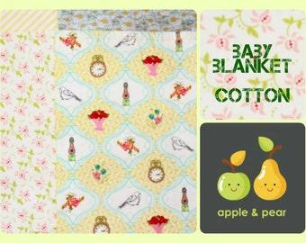 Baby Blanket Modern Vintage Style. Handmade in New Zealand