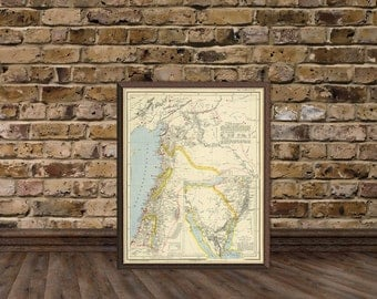 Lebanon map - Syria map - Asian maps - Historic old maps