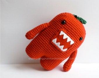 Domo-kun tomato, Domo-kun Plushie, Amigurumi crochet domokun, doll, soft toy