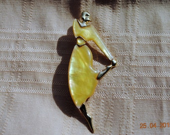 Dancing Lady by Park lane in Iridescent Yellow Dress