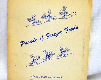 Ready Killowatt recipe book Parade of Freezer Foods  Vintage1950s how to booklet