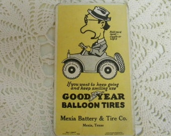 1925 Goodyear Balloon Tires blotter is also a game