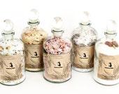 Spa Gift Set // Collection of Bath Salts // Garden Apothecary