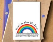 There's No Place Like Home Card - new home card - new house card - Mother's Day card - Bon Voyage Card - Leaving Card - welcome home card