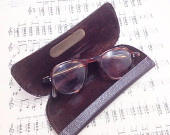 French Vintage Tortoiseshell Spectacles, Antique Specticles, Old French Glasses
